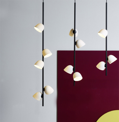 porcelain lighting ceiling porcelain has always played major role in how we create our homes with its new moira lighting series by sebastian herkner frstenberg news studio herkner